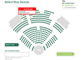 Insead interactive seat booking